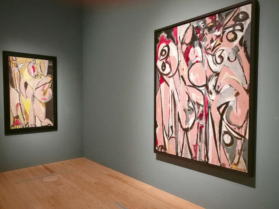 Lee Krasner, Prophecy, Three in Two, 1956, Ausstellungsansicht Lee Krasner, Schirn 2019, Foto: ARTinWORDS