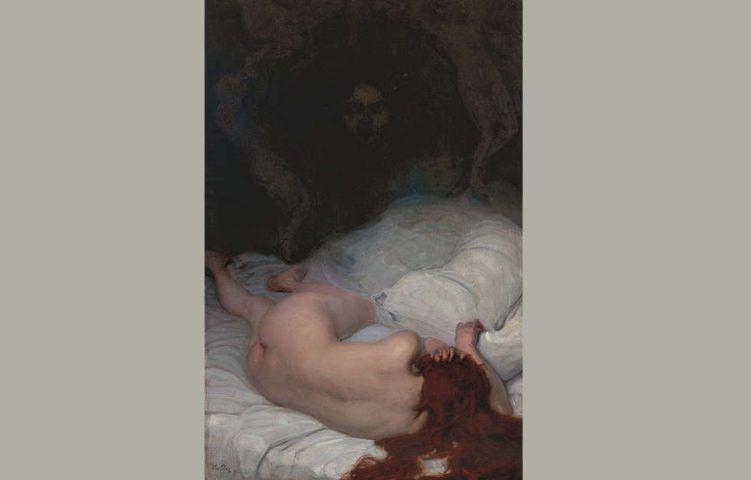 Leo Putz, Vanitas, Detail, 1896 (Sammlung Siegfried Unterberger © Sammlung Siegfried Unterberger)