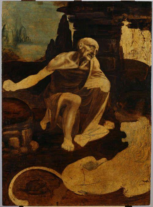 Leonarod, Hl. Hieronymus, um 1480, Tempera und Öl auf Holz, 103 x 75 cm (Rom, Pinacoteca Vaticana, INv.-Nr. 337 / 151)