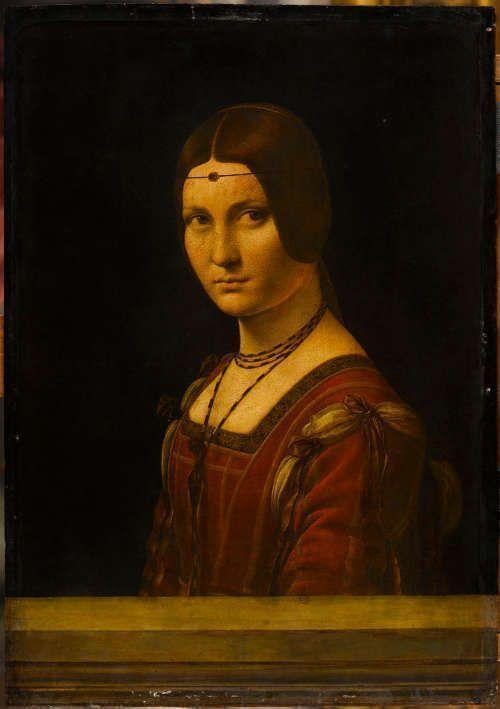 Leonardo, La belle Ferronnière, 1490–1495, Öl auf Holz, 62 x 44 cm (Paris, Musée du Louvre)