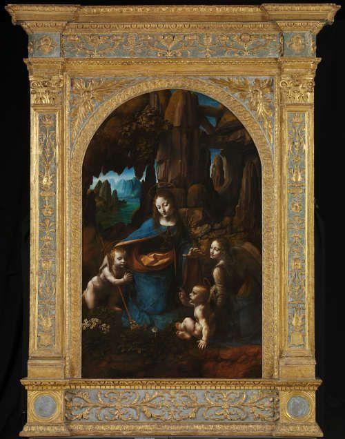 Leonardo, Madonna in der Felsengrotte (zweite Fassung), nach 1493–1508, Öl auf Holz, 189,5 x 120 cm (London, National Gallery)