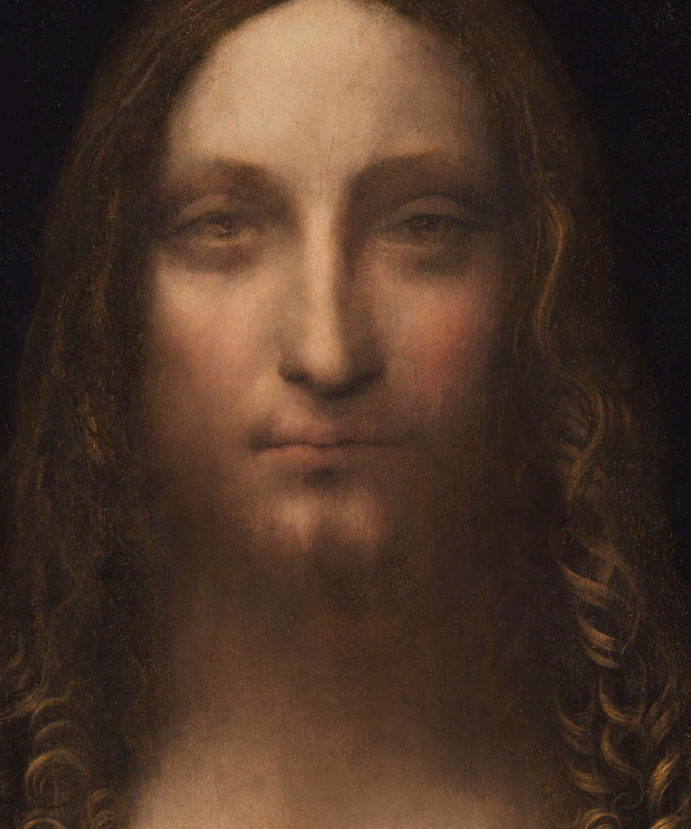 Leonardo da Vinci, Salvator Mundi, Gesicht, Öl/Holz, 65.7 x 45.7 cm, um 1500 (Privatsammlung, courtesy Sothenby's)