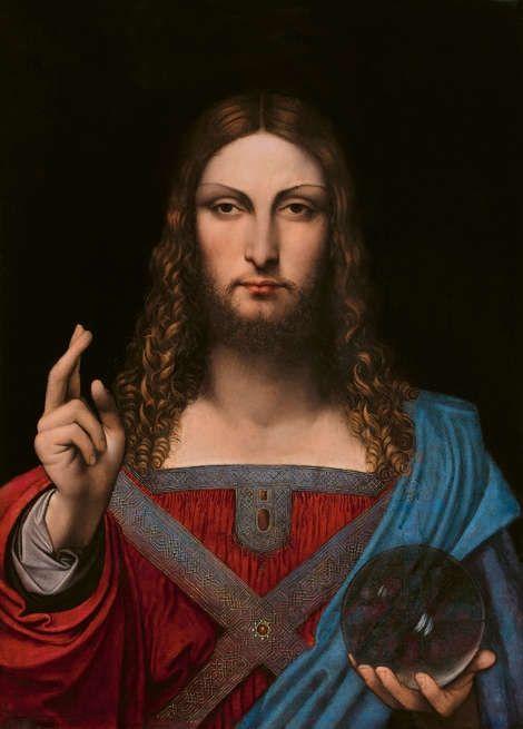 Leonardo-Werkstatt, Salvator Mundi (Ganay Fassung), um 1505–1515, Öl/Holz, 68.2 x 48.8 cm (Privatsammlung)