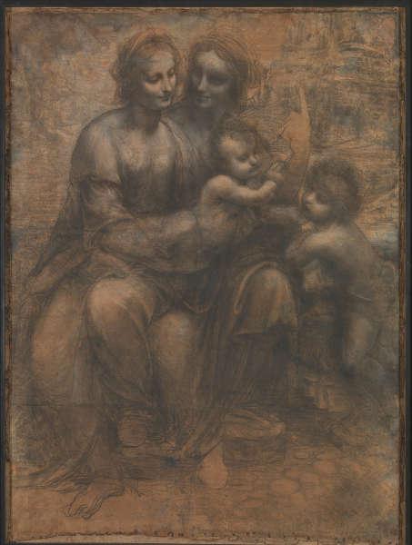 Leonardo da Vinci, Hl Anna Selbdritt, Karton (The National Gallery, London)