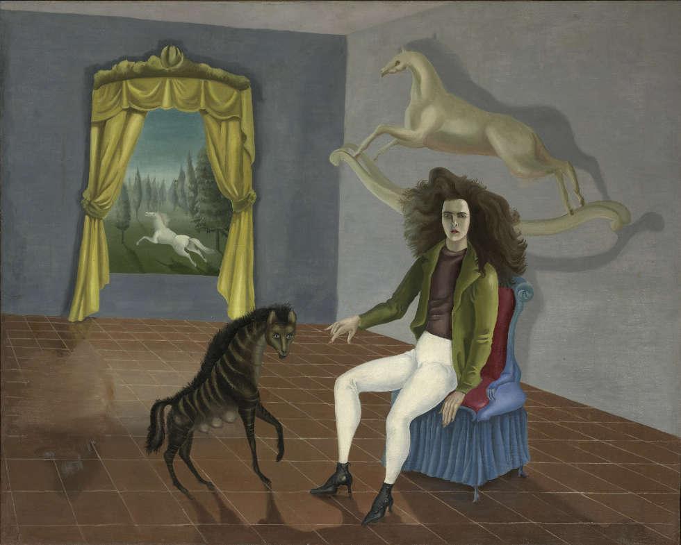 Leonora Carrington, Selbstbildnis in der Auberge du Cheval d'Aube, 1937/38, Öl auf Leinwand (The Metropolitan Museum of Art, New York © VG Bild-Kunst, Bonn 2020)