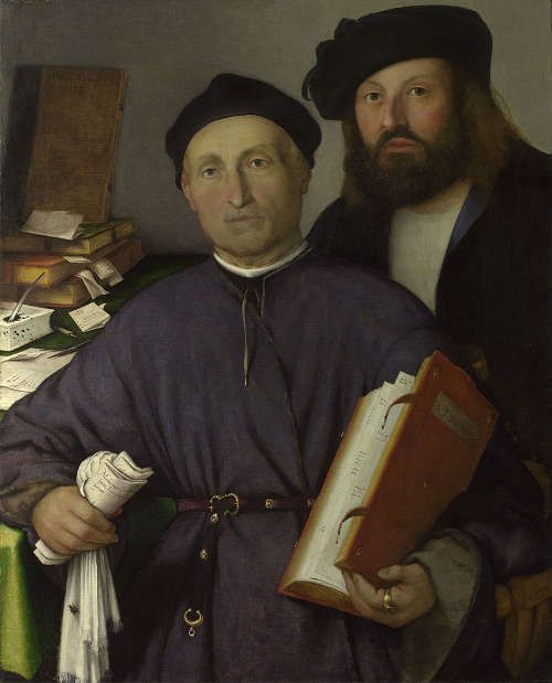 Lorenzo Lotto, Der Arzt Giovanni Agostino della Torre und sein Sohn, Niccolò, um 1513–1516, Öl/Lw, 85 x 68.2 cm (© The National Gallery, London)