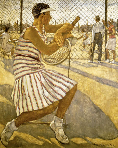 Lotte Laserstein, Tennisspielerin, 1929, Öl auf Leinwand, 110 × 95,5 cm (Privatbesitz, Foto: Berlinische Galerie © VG Bild-Kunst, Bonn 2018)