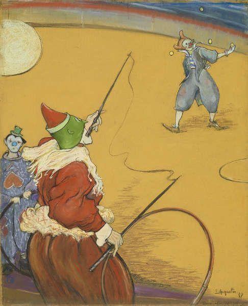 Louis Anquetin, Au cirque [Im Zirkus], 1887, Pastell/Holz, 60,2 x 49 cm (Privatsammlung, Foto Maurice Aeschimann)
