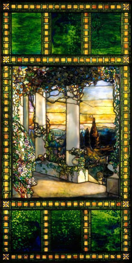 Louis Comfort Tiffany, Hinds House Window, um 1900, Glasfenster, 227.3 x 114.3 cm (Cleveland Museum of Art, Gift of Mrs. Robert M. Fallon 1966.432)
