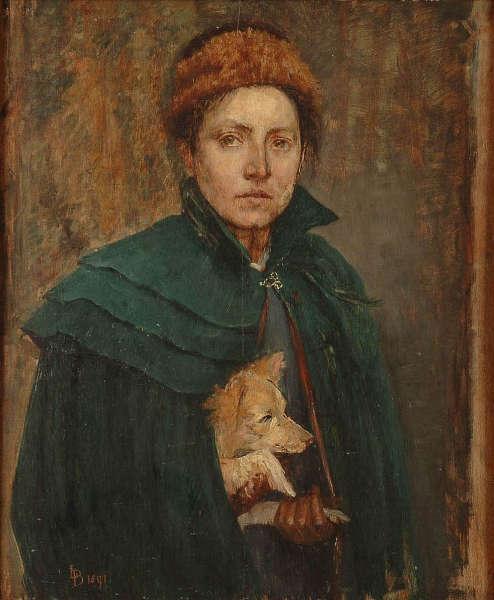 Louise-Catherine Breslau, Selbstporträt, 1891 (Musée d'Art moderne et contemporain de Strasbourg)