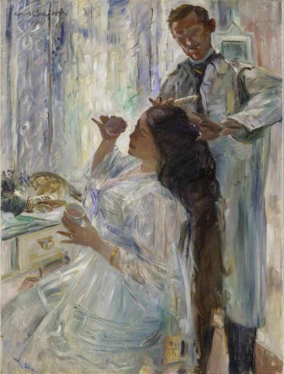 Lovis Corinth, Charlotte Corinth am Frisiertisch, 1911, Öl auf Leinwand, 120 x 90 cm (© Hamburger Kunsthalle / bpk Foto: Elke Walford)