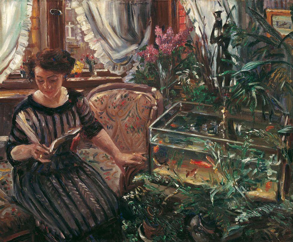 Lovis Corinth, Dame am Goldfischbassin, 1911 (Belvedere, Wien)