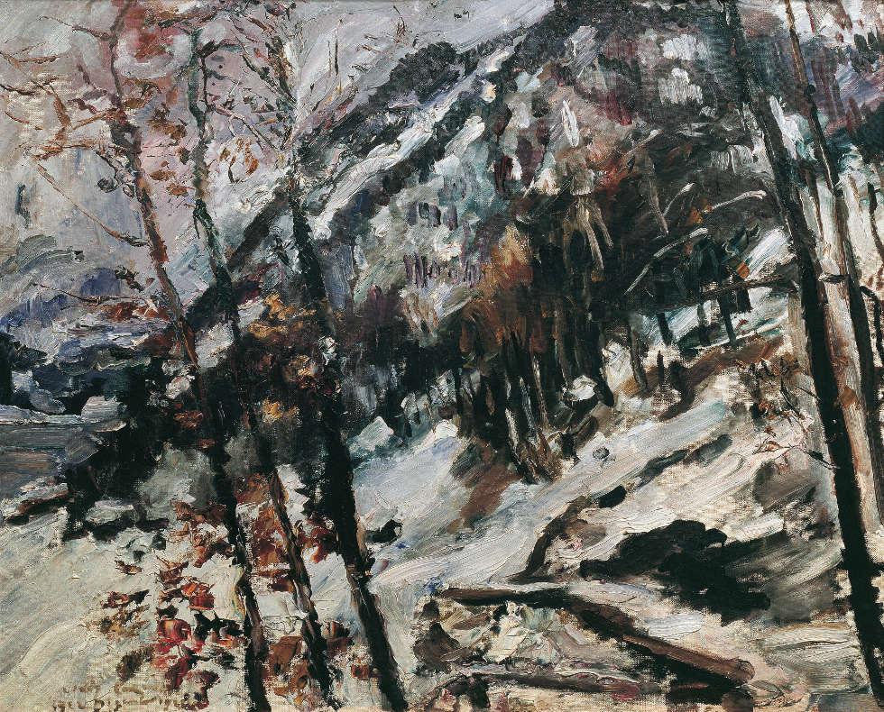 Lovis Corinth, Der Herzogstand am Walchensee im Schnee, 1922, Öl/Lw, 78 x 98 cm (Belvedere, Wien)