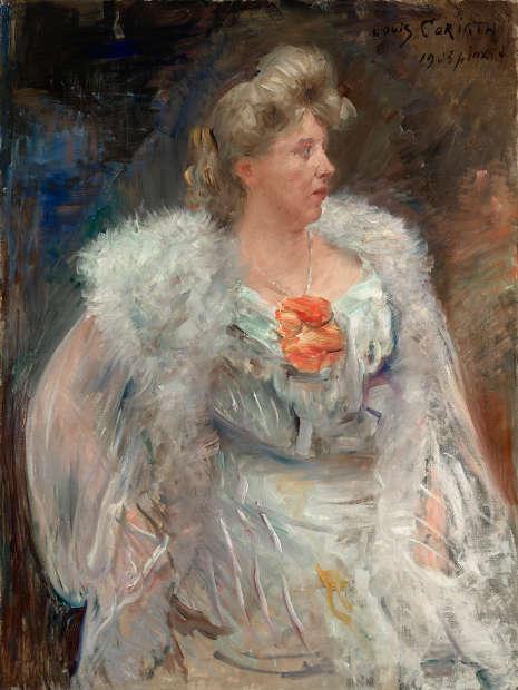 Lovis Corinth, Die Sängerin Frieda Halbe, 1905 (© Belvedere, Wien, Foto: Johannes Stoll)