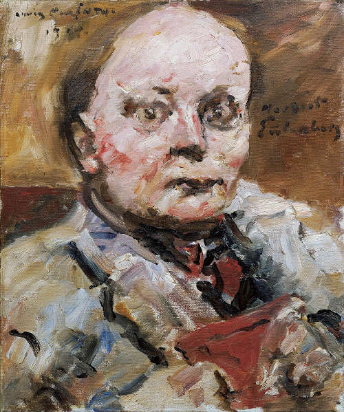 Lovis Corinth, Herbert Eulenberg, 1924, Öl auf Leinwand, 60 × 50 cm (© Belvedere, Wien)