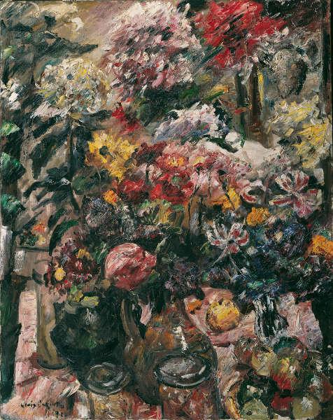 Lovis Corinth, Stillleben mit Chrysanthemen und Amaryllis, 1922, Öl/Lw, 121 x 96 cm (Belvedere, Wien)