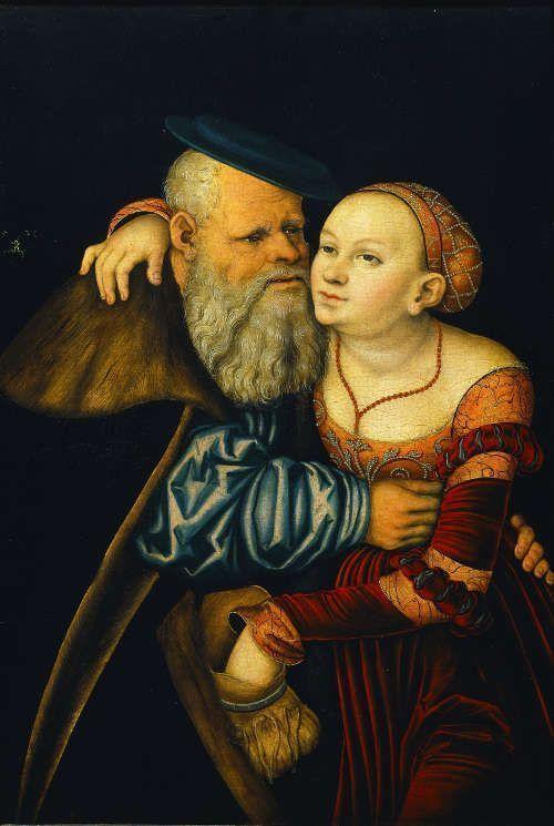 Lucas Cranach d. Ä., Das ungleiche Paar, 1531, Tempera auf Holz © Gemäldegalerie der Akademie der bildenden Künste Wien