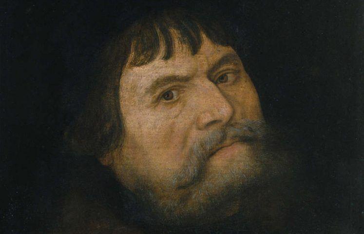Lucas Cranach d. Ä., Selbstbildnis, Detail, 1531 (Generaldirektion Kulturelles Erbe Rheinland-Pfalz - Direktion Brúrgen, Schlösser, Altertümer - Schloss Stolzenfels)