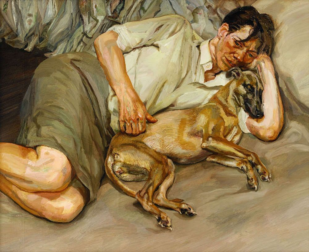 Lucian Freud, Double Portrait, 1988–1990, Öl auf Leinwand, 113,3 x 134,62 cm (© The Lucian Freud Archive/Bridgeman Images UBS Art Collection)