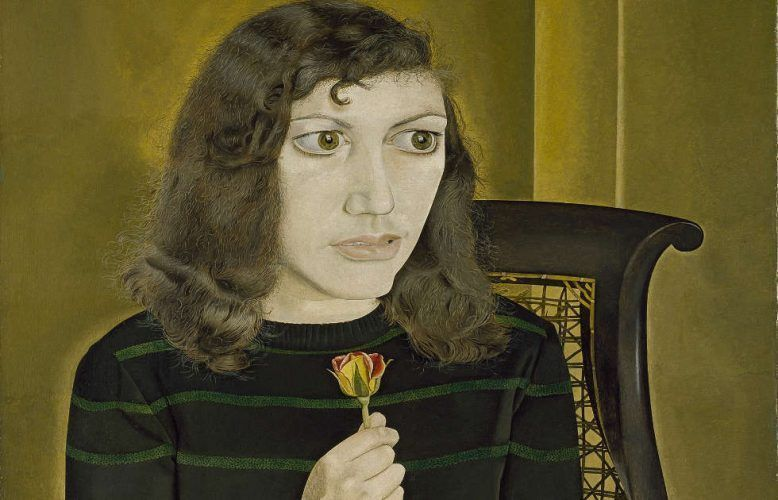 Lucian Freud, Girl with Roses, Detail, 1947/48 (Courtesy of the British Council Collection. Photo © The British Council © The Lucian Freud Archive / Bridgeman Images)