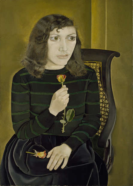 Lucian Freud, Girl with Roses, 1947/48 (Courtesy of the British Council Collection. Photo © The British Council © The Lucian Freud Archive / Bridgeman Images)