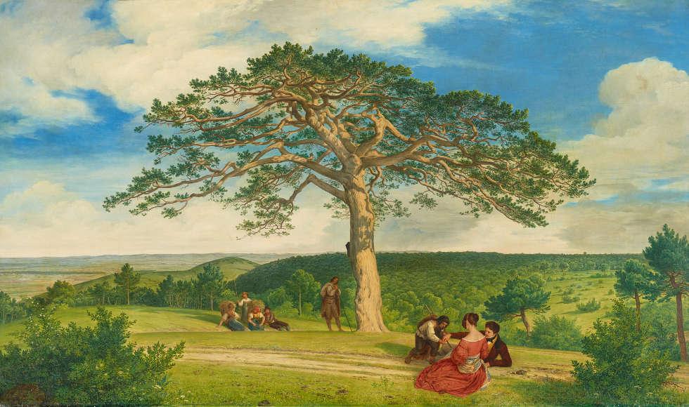 Ludwig Ferdinand Schnorr von Carolsfeld, Die Breite Föhre nächst der Brühl bei Mödling, 1838 (Belvedere, Wien)