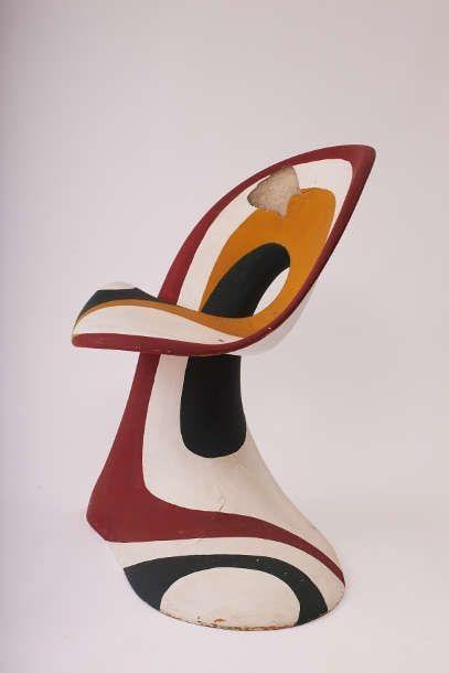 Luigi Colani, Sessel-Plastik (Prototyp), 1965 (Sammlung POPDOM, Foto: Colya Zucker © Colani Design Germany GmbH)