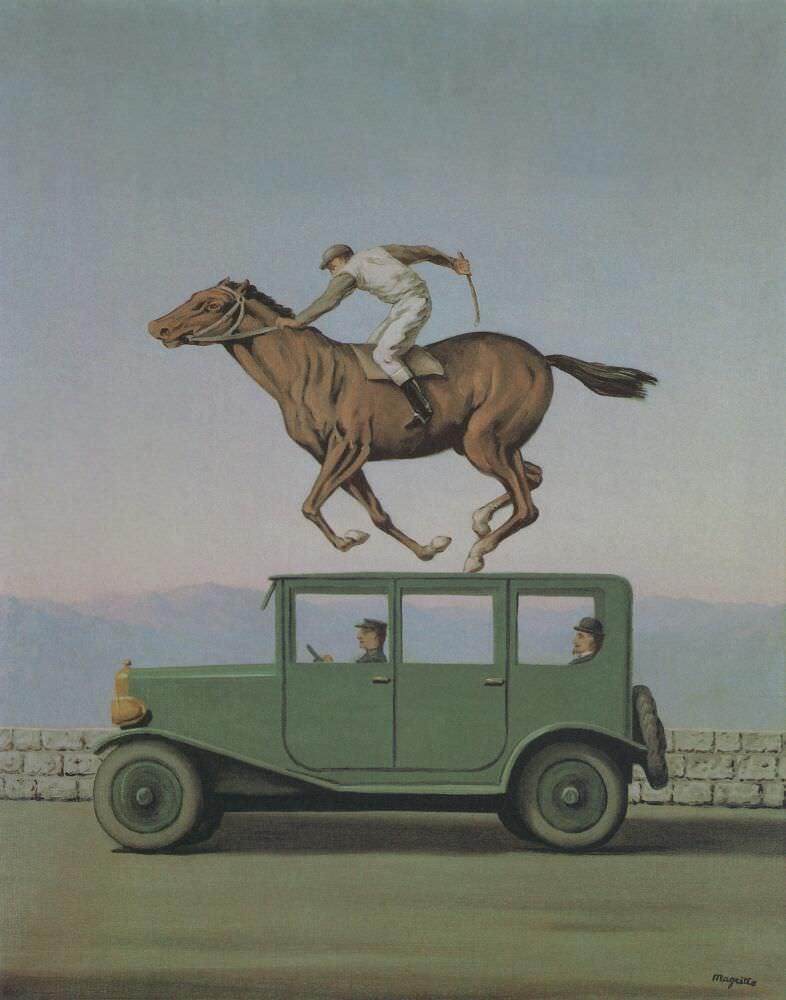 René Magritte, La colère des dieux [Der Zorn der Götter], 1960, Öl auf Leinwand, 80 x 70 cm (Privatsammlung © VG Bild-Kunst, Bonn 2017)