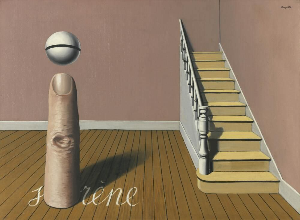 René Magritte, La lecture défendue [Der Zorn der Götter], 1936, Öl auf Leinwand, 54,4 x 73,4 cm (Royal Museums of Fine Arts of Belgium, Brussels, Foto: J. Geleyns - Ro scan / Charly Herscovici, with his kind authorization – c/o SABAM-ADAGP, 2016 © VG Bild-Kunst, 2017)