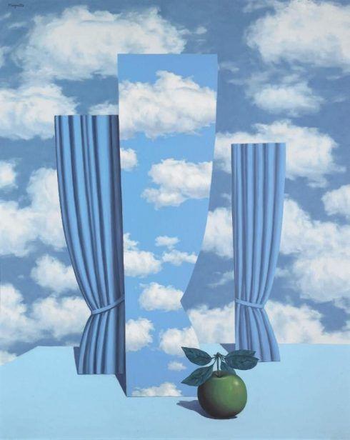 René Magritte, Le beau monde [Schöne Welt], 1962, Öl auf Leinwand, 100 x 81 cm (Privatsammlung, Courtesy Sotheby's © VG Bild-Kunst, Bonn 2017)