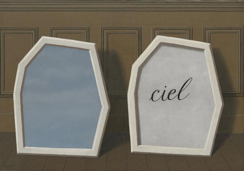 René Magritte, Le Palais de rideaux III [Der Palast aus Vorhängen III], 1928/29 Öl auf Leinwand, 81,2 × 116,4 cm (The Museum of Modern Art, New York. The Sydney and Harriet Janis Collection, 1967)