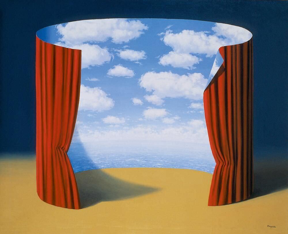 René Magritte, Les Mémoires d'un saint [Die Erinnerungen eines Heiligen], 1960, Öl auf Leinwand, 80 x 99,7 cm (The Menil Collection, Houston © VG Bild-Kunst, Bonn 2017)