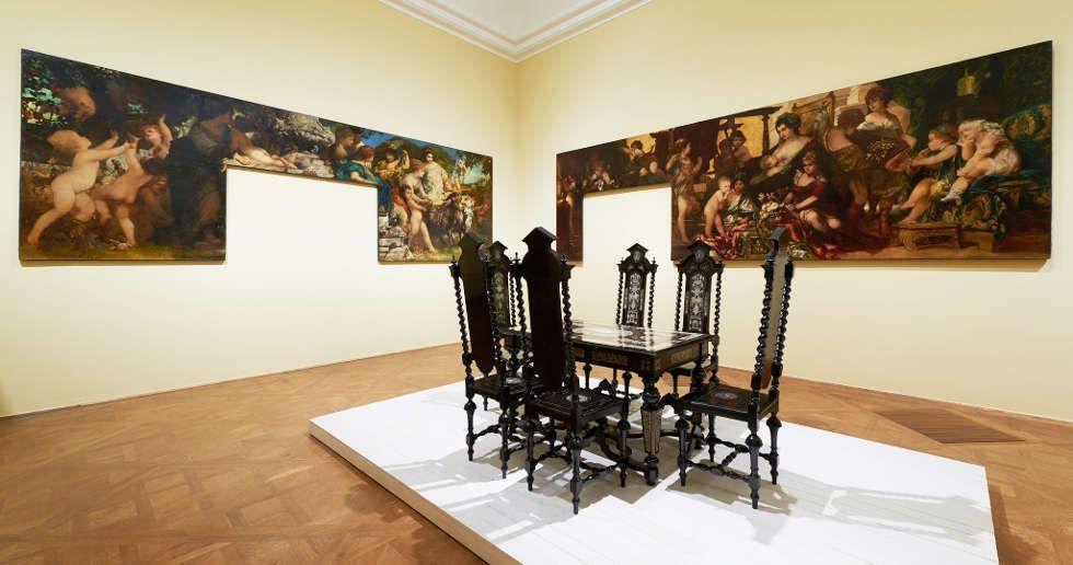 """Makart-Zimmer im Palais Dumba, Ausstellungsansicht """"Klimt und die Ringstraße"""" im Belvedere, Foto: © Belvedere."""