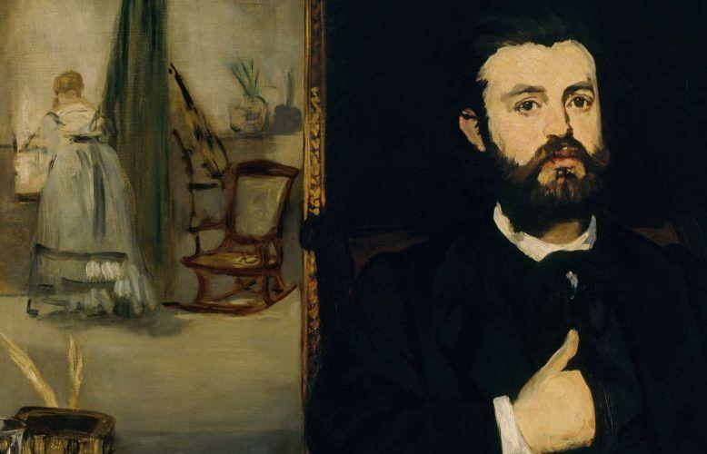 Edouard Manet, Der Dichter Zacharie Astruc, Detail, 1866, Öl/Lw, 90,5 x 116 cm (Kunsthalle Bremen - Der Kunstverein in Bremen)