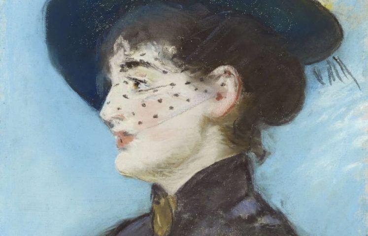 Edouard Manet, La Viennoise Irma Brunner [Die Wienerin Irma Brunner], Detail, Pastell/Lw, 57 x 36 cm (Privatsammlung, Foto Dominic Büttner, Zürich)