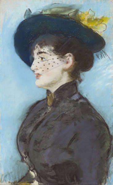 Edouard Manet, La Viennoise Irma Brunner [Die Wienerin Irma Brunner], Pastell/Lw, 57 x 36 cm (Privatsammlung, Foto Dominic Büttner, Zürich)