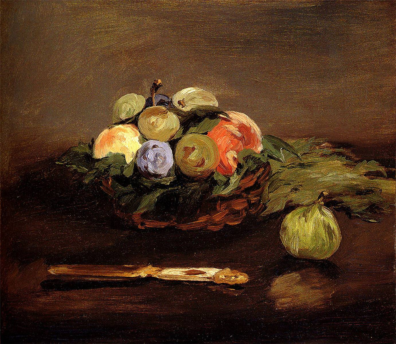 Edouard Manet, Fruchtkorb, um 1864, Öl auf Leinwand, 37,8 x 44,4 cm (Museum of Fine Arts, Boston)