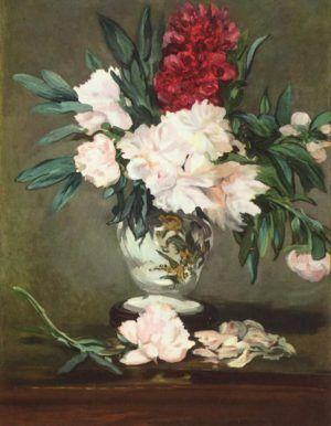 Edouard Manet, Vase mit Pfingstrosen, 1864, Öl auf Leinwand, 93,2 x 70,2 cm (Musée d'Orsay, Paris)