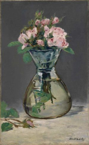 Edouard Manet, Vase mit Rosen, 1882, Öl auf Leinwand, 55.9 x 34.6 cm (Sterling and Francine Clark Art Institute, Williamstown)
