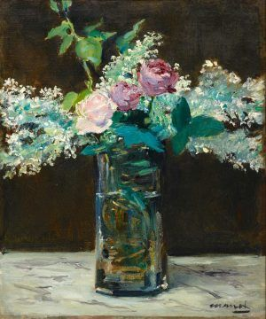 Edouard Manet, Der Fliederstrauss um 1882 ( Nationalgalerie Staatliche Museen Preußischer Kulturbesitz Berlin)