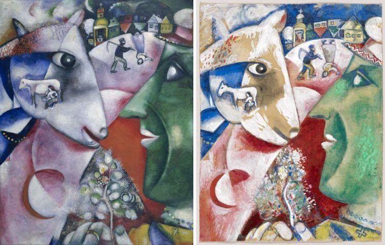 """Marc Chagall """"Ich und das Dorf"""": Bilder aus Paris und Witebsk"""