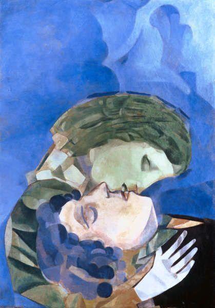 Marc Chagall, Les Amoureux, 1916, Öl auf Karton, 70 x 50 cm (Courtesy Heidi Horten Collection)