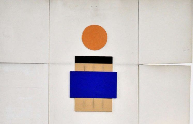 Marcelle Cahn, Spacial Mobile, Detail, 1967–1969, bemaltes Holz, 68,6 x 42,5 x 15,7 cm (Courtesy Galerie Lahumière)
