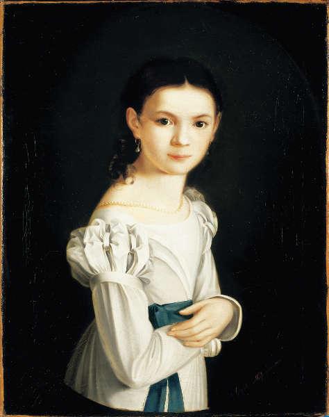 Maria Angelika Weiß, Mädchenbildnis, 1826, Öl auf Leinwand, 62,5 x 49,5 cm (Museum Georg Schäfer, Schweinfurt © Museum Georg Schäfer, Schweinfurt)
