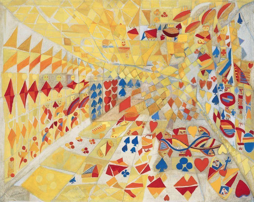 Maria Helena Vieira da Silva, Jeu de cartes, 1937 (courtesy Galerie Jeanne Bucher Jaeger)