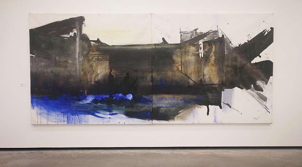 Maria Moser, Triebwerk, 2006, Öl/Lw, 200 x 450 cm, Foto: Alexandra Matzner | ARTinWORDS