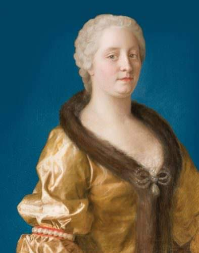 Maria Theresia im pelzverbrämten Kleid, 1743 (© SKB / OeNB / A.E. Koller)