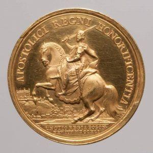 """Matthäus Donner, Maria Theresia, Medaille auf die Krönung zum """"König"""" von Ungarn, Revers, Wien 1741 Gold (Wien, Kunsthistorisches Museum, Münzkabinett Inv.-Nr. 1885bβ © KHM-Museumsverband)"""