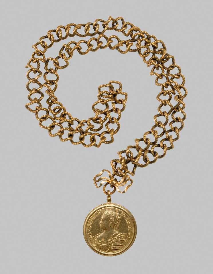 Jean Dassier, Maria Theresia, Gnadenkette mit Medaille, Genf 1763 (KHM, Kunstkammer, Inv.-Nr. KK 992)