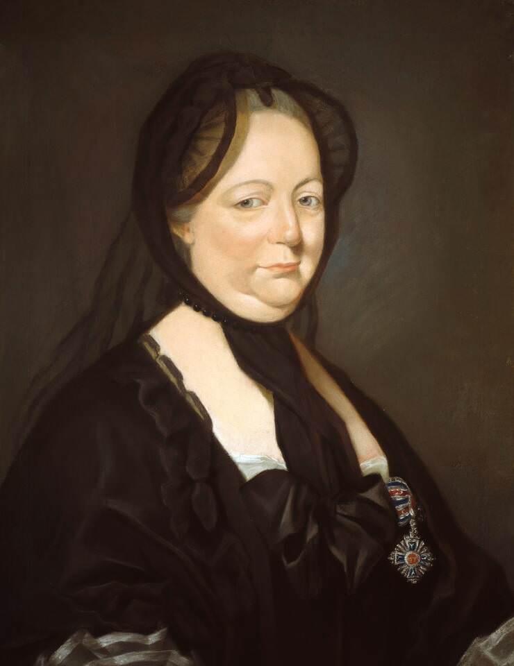 Joseph Ducreux, Maria Theresia als Witwe, 1769, Pastell auf Leinwand, 69 x 44 cm (Wien, Akademie der bildenden Künste, Gemäldegalerie, Inv.-Nr. 207; Schenkung Carl Rahl 1876)
